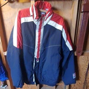 Vintage Fila Puffer Ski Coat XXL Blue Red White